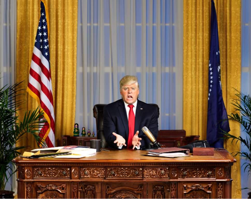 "Gavin Bond  |  Comedy Central   Anthony Atamanuik stars as Donald J. Trump in ""The President Show."""