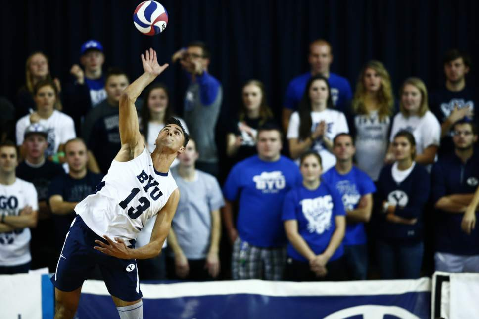 Jaren Wilkey     BYU Photo  BYU's Ben Patch, a sophomore outside hitter on the men's volleyball team. The team is ranked No.1.