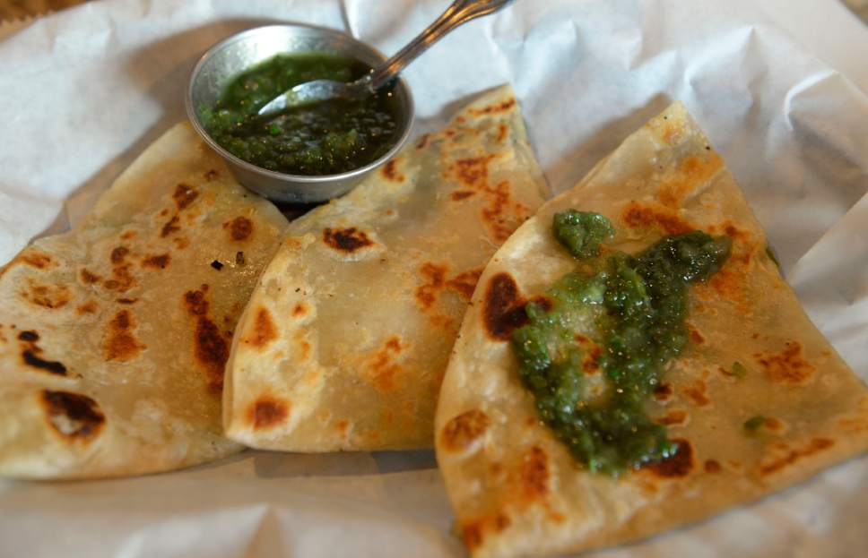 Al Hartmann  |  The Salt Lake Tribune Bulani, an appetizer at Afghan Kitchen, a new restaurant in South Salt Lake.