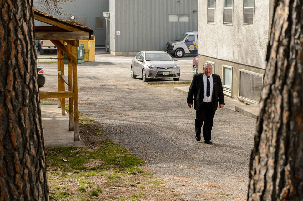 Trent Nelson  |  The Salt Lake Tribune Winston Blackmore leaves court in Cranbrook, B.C., Tuesday April 18, 2017. Blackmore and co-defendant James Oler are the first fundamentalist Mormons to be tried for polygamy in Canada.