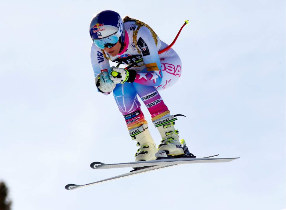 FILE - In this March 14, 2017, file photo, United States' Lindsey Vonn skis during a training run for a women's World Cup downhill ski race in Aspen, Colo. In the twilight of her career, Vonn still has a list of high-priority goals to accomplish before stepping away from skiing (AP Photo/Nathan Bilow, File)
