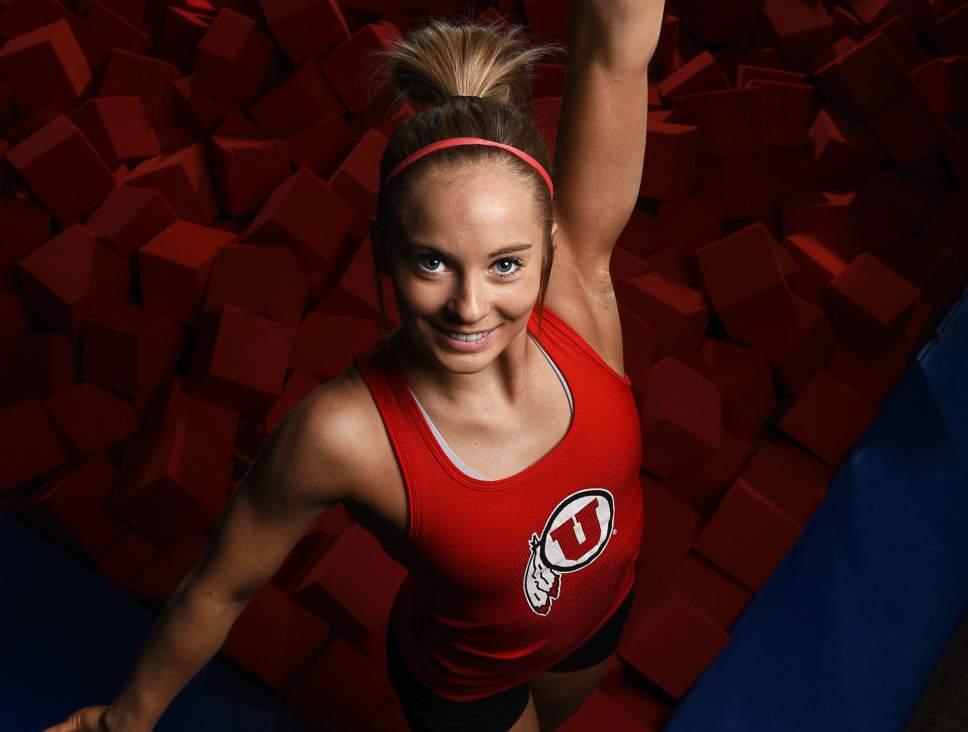 Francisco Kjolseth | The Salt Lake Tribune MyKayla Skinner is Utah's star freshman gymnast, preparing for big postseason meets.