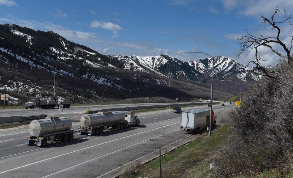 Francisco Kjolseth | The Salt Lake Tribune A wildlife bridge is slated to be built over I-80 at Parleys Summit, a notorious spot for animal collisions. The plan calls for the bridge to be built just West of the summit and will cross over part of the eastbound exit ramp.