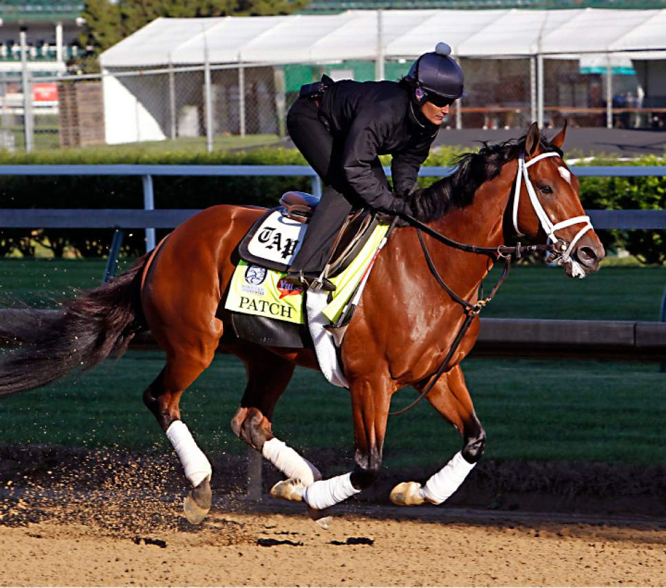 Exercise Rider Isabelle Bourez Puts Kentucky Derby Hopeful Patch Through His Morning Workout At Churchill Downs