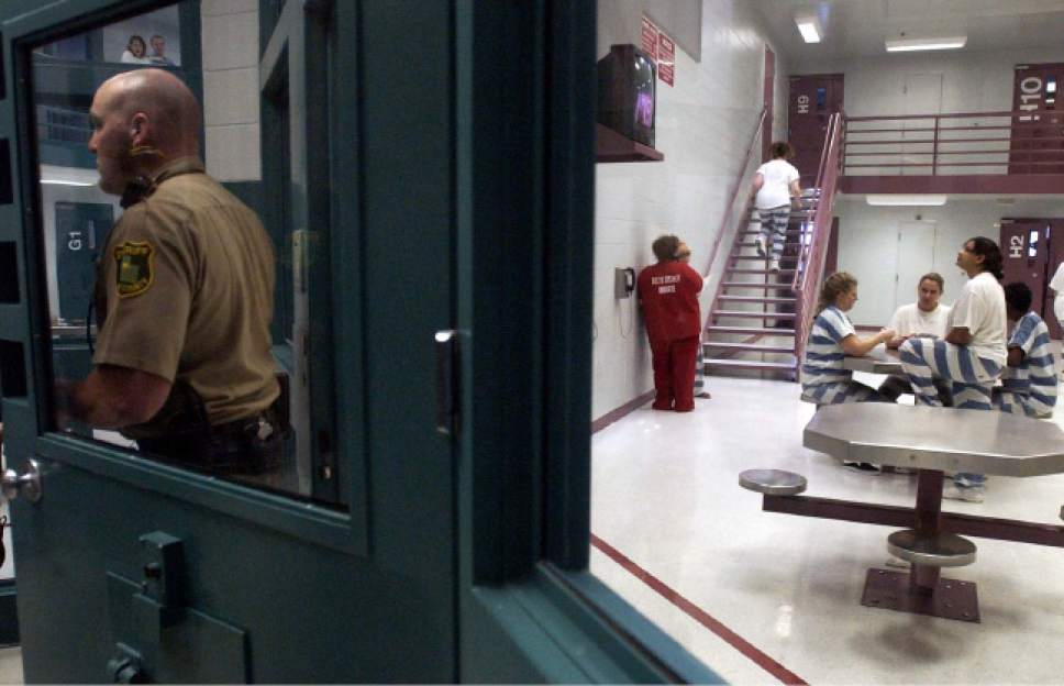 The Davis County Jail, located in Farmington, as seen on Dec. 18, 2002.