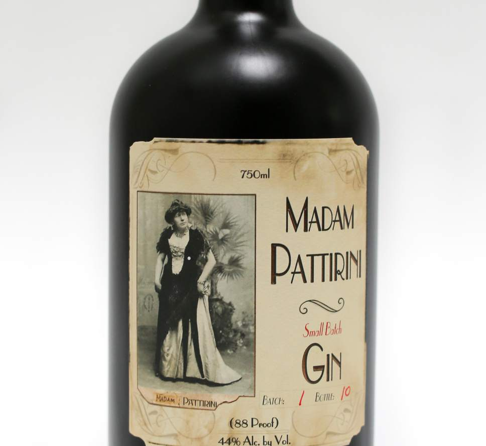 The newest spirit from Ogdenís Own Distillery,  Madam Pattirini Gin, is named for B. Morris Young who broke Mormon gender barriersin the 1800s by performing in drag as an Italian opera diva.Courtesy Ogden's Own Distillery