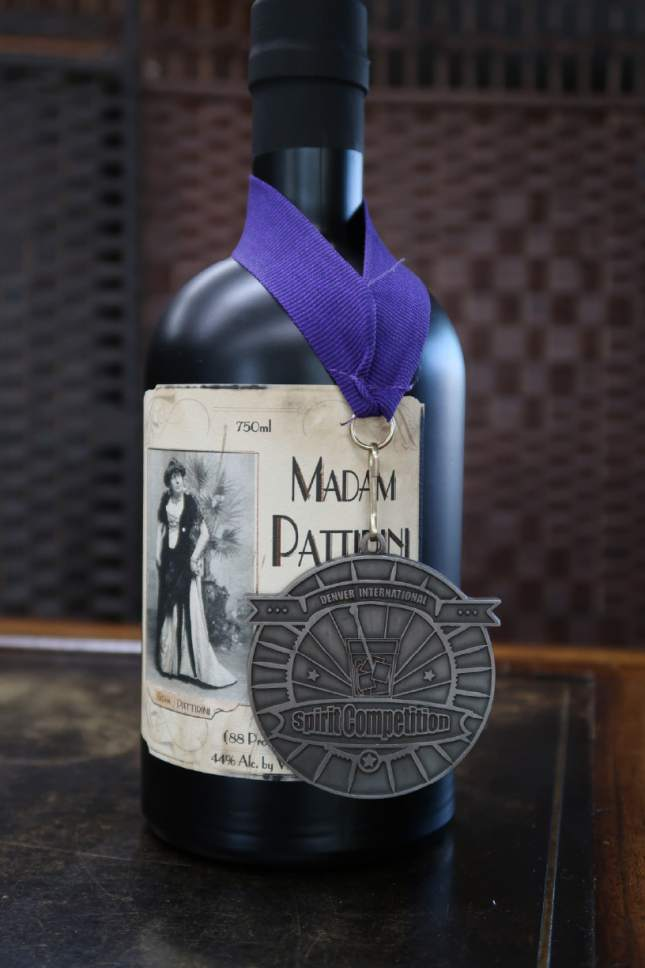 The newest spirit from Ogden's Own Distillery,  Madam Pattirini Gin, is named for B. Morris Young who broke Mormon gender barriers in the 1800s by performing in drag as an Italian opera diva. Courtesy Ogden's Own Distillery