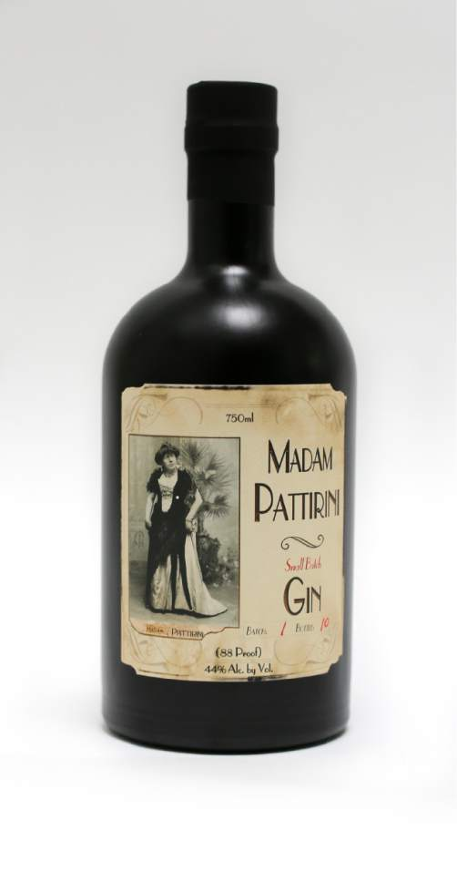 The newest spirit from Ogden's Own Distillery,  Madam Pattirini Gin, is named for B. Morris Young who broke Mormon gender barriersin the 1800s by performing in drag as an Italian opera diva.Courtesy Ogden's Own Distillery