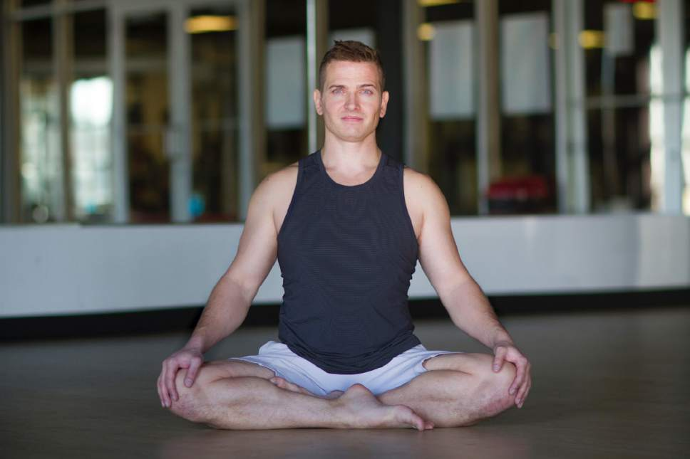 Courtesy photo  Micah Scholes, founder of ScholÈ Yoga Salt Lake, will lead the new yoga classes by The Gateway fountain on Sundays starting in May. Each class will feature a live DJ spinning modern music.