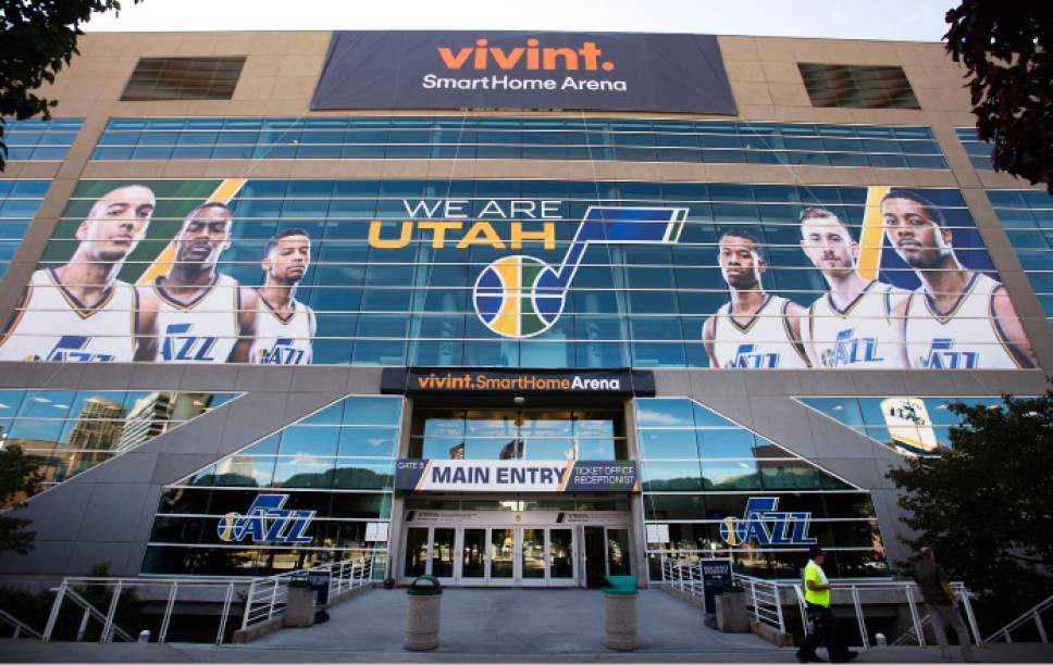 Steve Griffin  |  Tribune file photo  Provo-based Vivint, best known locally for its sponsorship of the Utah Jazz area, now will have it smart home products displayed prominently within 400 Best Buy stores around the country.