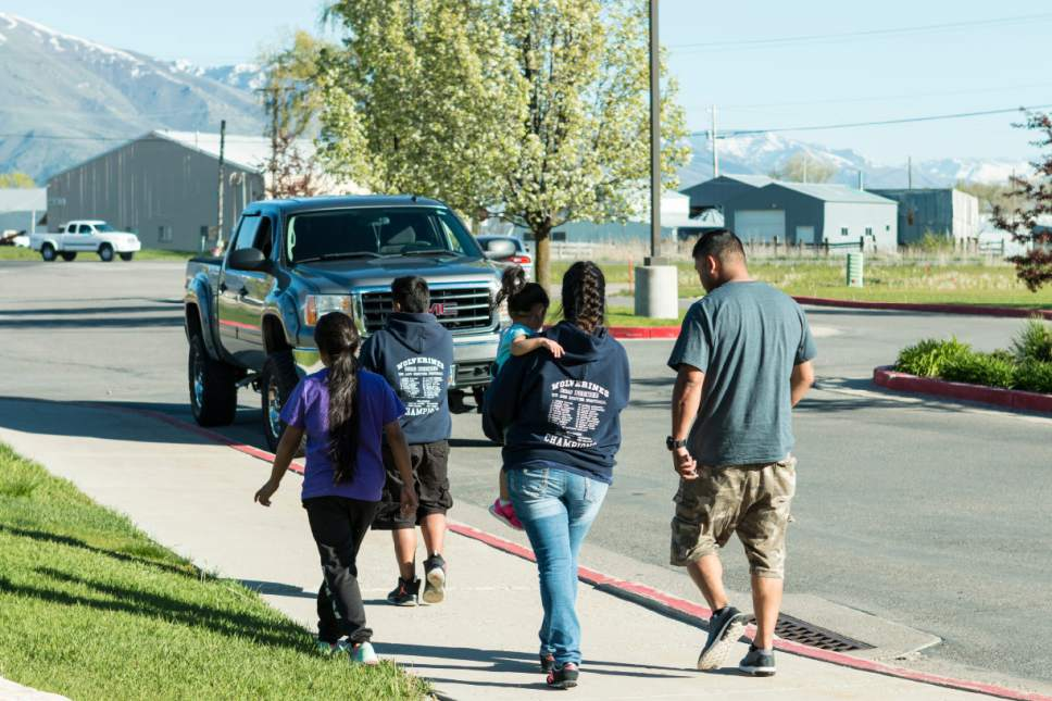 Sydney Oliver  |  Special to The Tribune  Silvia Avelar-Flores leaves Cache County Jail with her family on Thursday May 4 after being detained since Friday, April 28. Avelar-Flores was arrested by Immigration and Customs Enforcement agents In West Valley, Utah.