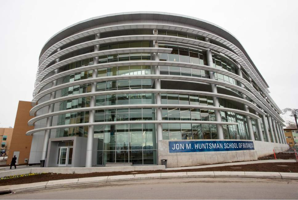 Rick Egan  |  The Salt Lake Tribune  The Jon M. Huntsman Hall, the new $50 Million building in the Jon M. Huntsman School of Business, Wednesday, March 16, 2016.