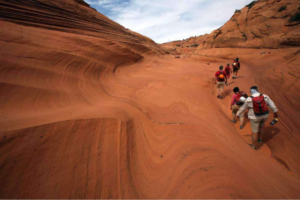 Francisco Kjolseth     Tribune file photo Every step can reveal an interesting new find in the Grand Staircase-Escalante National Monument where the geologic transformation of the planet seems to be more visible.