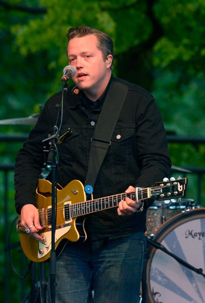 Leah Hogsten  |  The Salt Lake Tribune Alt-country singer Jason Isbell, formerly of the Drive-By Truckers, headlines at Red Butte Garden, Tuesday, June 17, 2014.