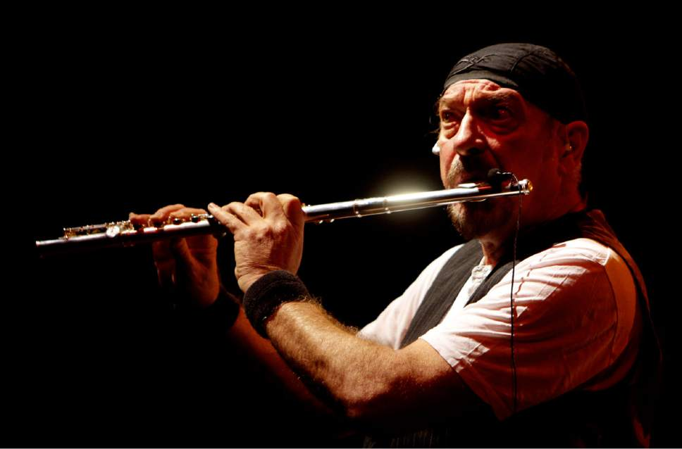 British musician Ian Anderson of Jethro Tull performs during a concert in Nicosia, Cyprus, Feb. 19, 2011. (AP Photo/Petros Karadjias)