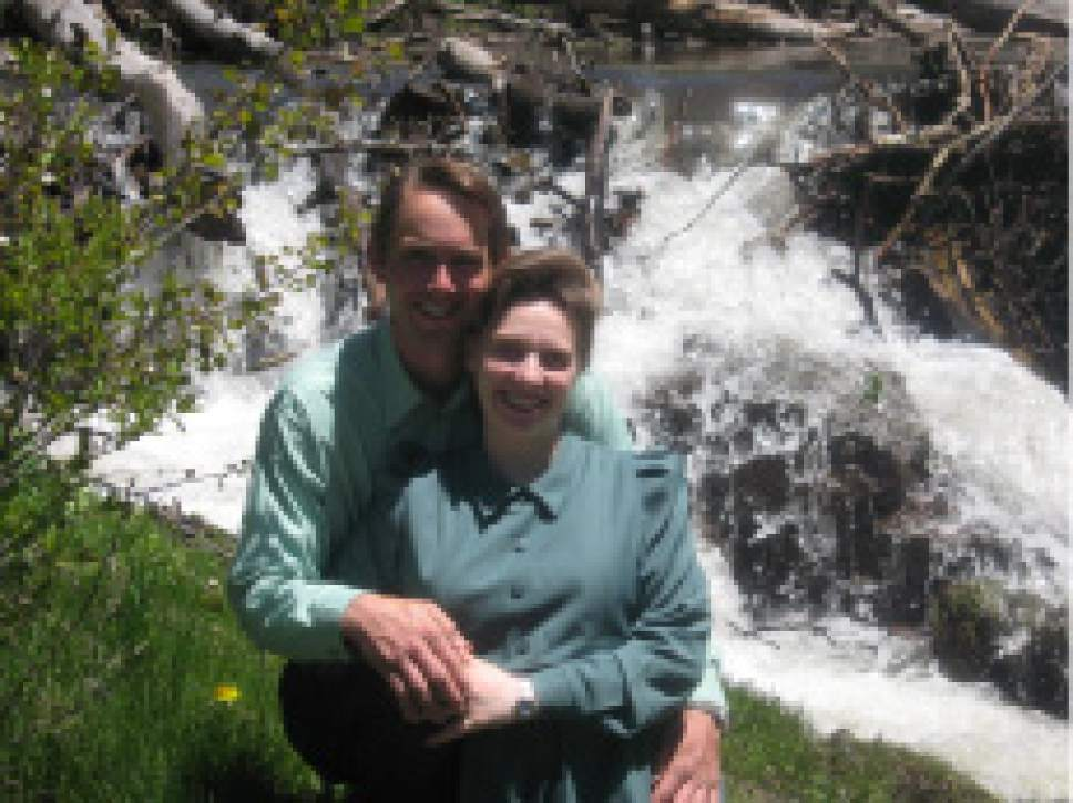 |  Courtesy Sarah Allred  Richard S. and Sarah Allred pose for a photo in 2008. The couple married in Washington County, Utah, in 1998. Sarah applied for divorce in 2015.