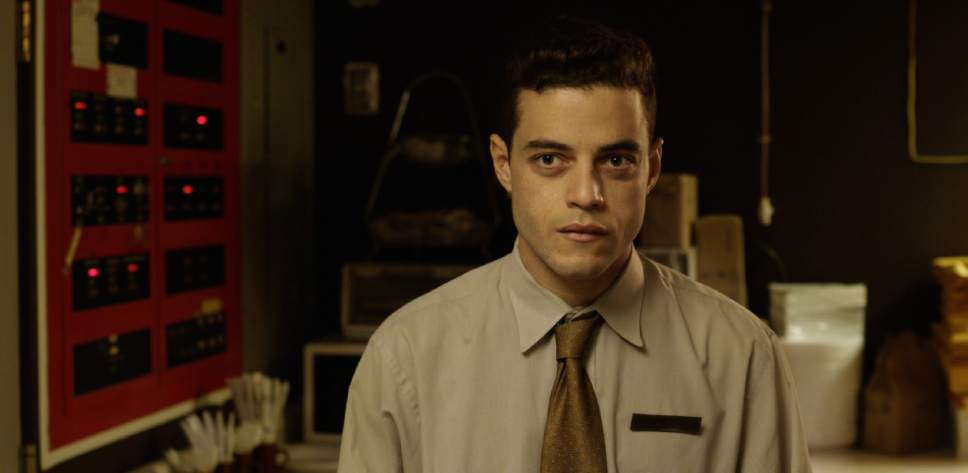 "Rami Malek plays Jonah, a hotel night clerk who spirals into conspiracy theories in the psychological thriller ""Buster's Mal Heart."" Courtesy Well Go USA"
