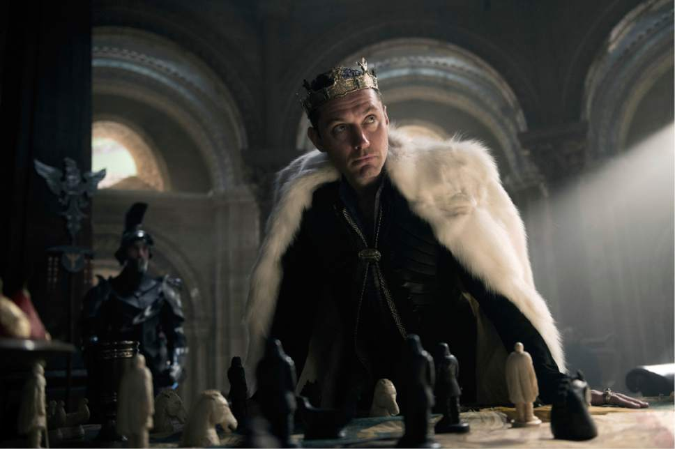 "This image released by Warner Bros. Pictures shows Jude Law in a scene from, ""King Arthur: Legend of the Sword."" (Daniel Smith/Warner Bros. Pictures via AP)"