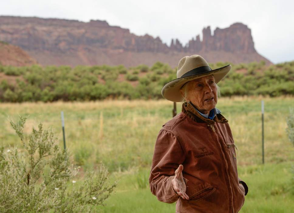Francisco Kjolseth | The Salt Lake Tribune Heidi Redd hosts a visit by Interior Secretary Ryan Zinke to her historic Dugout Ranch along Indian Creek, operated, under a conservation easement with the Nature Conservancy. Secretary Zinke is continuing his four-day Utah tour on Tuesday, May 9, 2017, of Bears Ears and Grand Staircase-Escalante National Monuments.