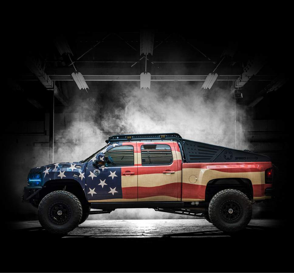 "Courtesy TruckNorris.com | Maverik is giving away ""Truck Norris,"" a custom-built vehicle designed in a partnership with Chuck Norris and Utah company DieselSellerz."