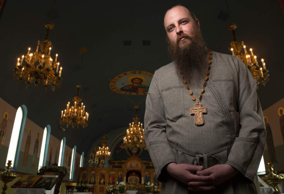 Leah Hogsten  |  The Salt Lake Tribune  Father Justin Havens, a former Presbyterian, is a convert to Orthodox Christianity at Sts. Peter and Paul Orthodox Christian Church in Salt Lake City, Thursday, April 27, 2017.