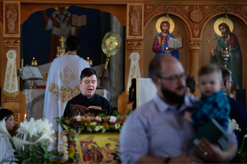 Scott Sommerdorf   The Salt Lake Tribune Worship service at Sts. Peter and Paul Orthodox Christian Church, Sunday, April 30, 2017.