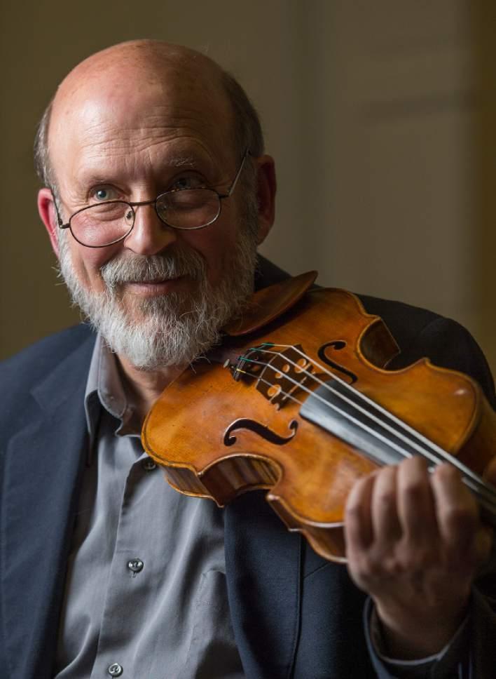 Leah Hogsten  |  The Salt Lake Tribune  Violinist/conductor Gerald Elias