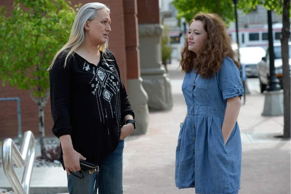 Scott Sommerdorf | The Salt Lake Tribune Sara Jade Woodhouse and her daughter, Kira, Saturday, May 6, 2017.