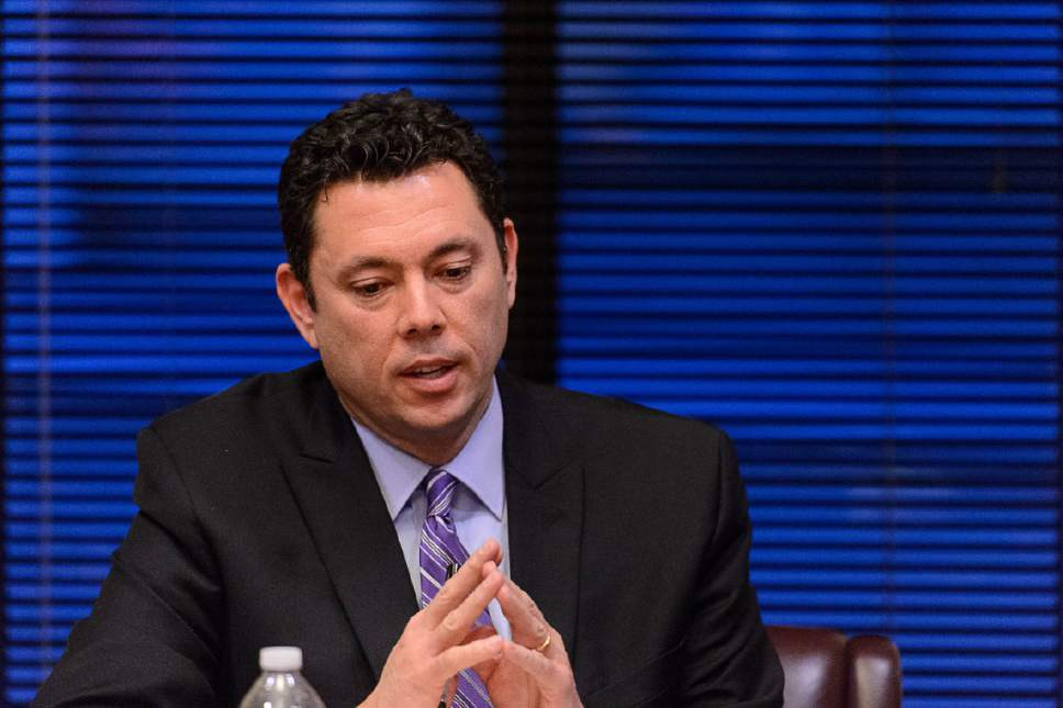Trent Nelson  |   Tribune file photo U.S. Rep. Jason Chaffetz, R-Utah, says he trusts President Donald Trump with the nation's top secrets. Says investigation into possible leaks should be done by the House Intelligence Committee -- not his Oversight panel.