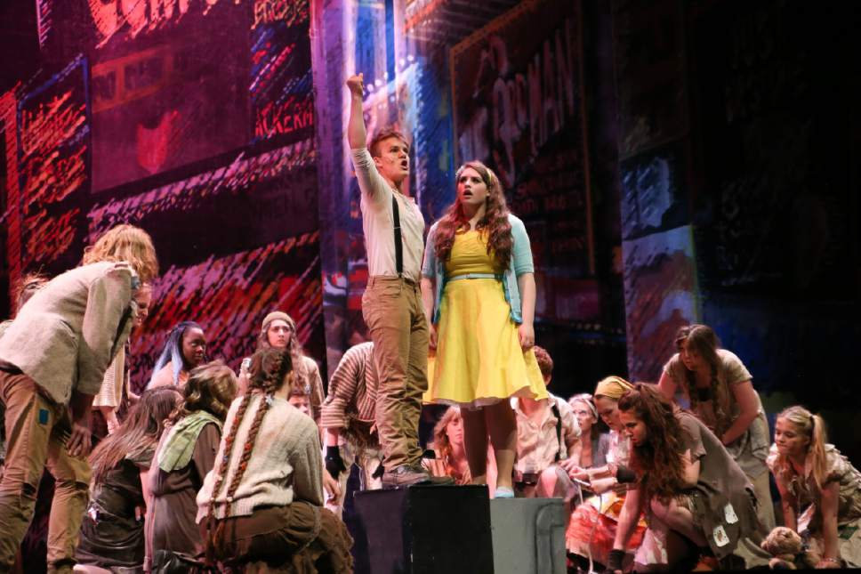 "Northridge High School's ""Urinetown"" was a Best Musical finalist in the 2016 Utah High School Musical Theatre Awards. The 2017 awards competition show is Saturday at the Eccles Theater in downtown Salt Lake City.  Courtesy Intrigue Photography"