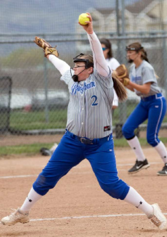 |  Courtesy Bingham High School   Bingham pitcher Karly Wightman delivers during a game earlier this season. The Miners open the Class 5A playoffs Tuesday.