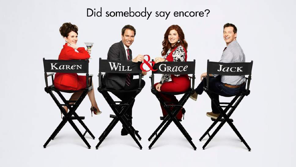 """Megan Mullally, Eric McCormack, Debra Messing and Sean Hayes return in """"Will & Grace.""""  Photo by: NBC/Univeral"""