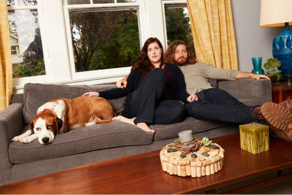 """Downward Dog"" stars Ned as Martin, Allison Tolman as Nan and Lucas Neff as Jason. Craig Sjodin  