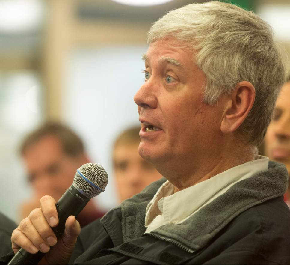 Rick Egan  |  Tribune file photo  George Chapman, a community activist from Sugar House, challenged Salt Lake City's to keep minutes and audio recordings secret from discussions last year during selection of homeless shelter sites. After losing his appeal Thursday before the State Records Committee he said he would seek a change in the law by the state Legislature.