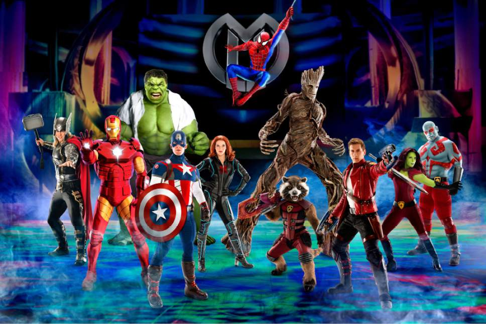 This undated image provided by Marvel and Feld Entertainment shows the Marvel comic book superheroes. Fans of the Marvel comic superheroes can see their favorite superheroes in one place in a new live show debuting this summer and touring the U.S. and Canada through 2019. (Marvel and Feld Entertainment via AP)
