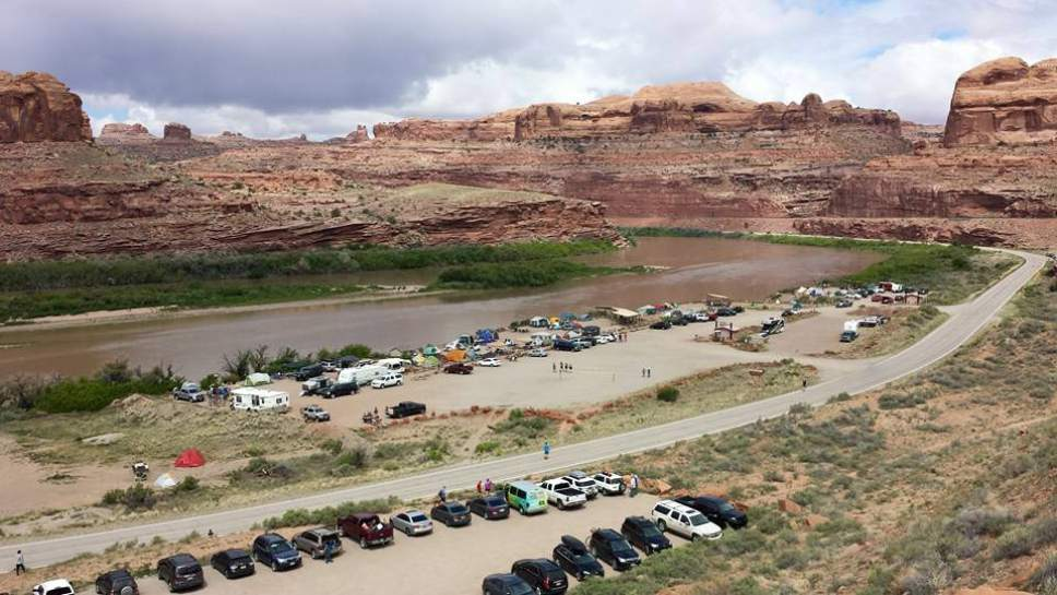 Gold Bar group campground near Moab, seen here in May 2015, sits beside the Colorado River and the trailhead to Corona Arch. Courtesy Tom Schilling
