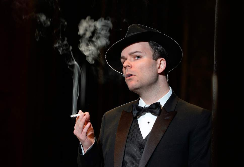 "Scott Sommerdorf | The Salt Lake Tribune Joshua Hopkins (Don Giovanni), in Utah Opera's film-noir-inspired production of Mozart's ""Don Giovanni."""