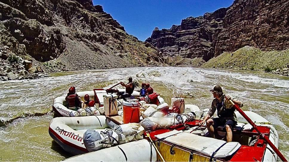 Rafting expedition companies are gearing up for a big season, with water running high on Utah's rivers and tributaries, including the Cataract Canyon section of the Colorado through Canyonlands National Park.  Courtesy Holiday River Expeditions