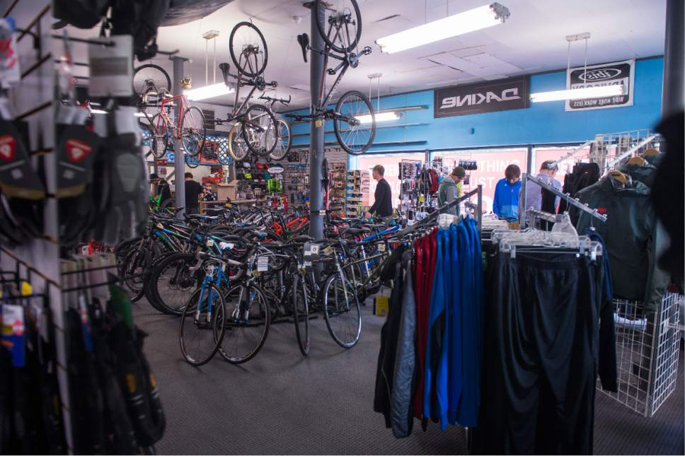 Leah Hogsten  |  The Salt Lake Tribune After 32 years in business, Tim Metos is closing Wild Rose Sports, a small shop in the Avenues that provided custom mountain bikes and Nordic skiing products, Wednesday, May 17, 2017.