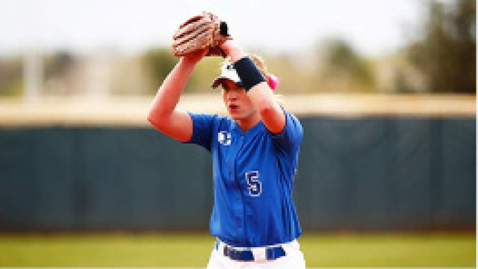 Jaren Wilkey  |  BYU file photo McKenna Bull got out of a sixth-inning jam to preserve BYU's 4-3 win over Utah on Wednesday.