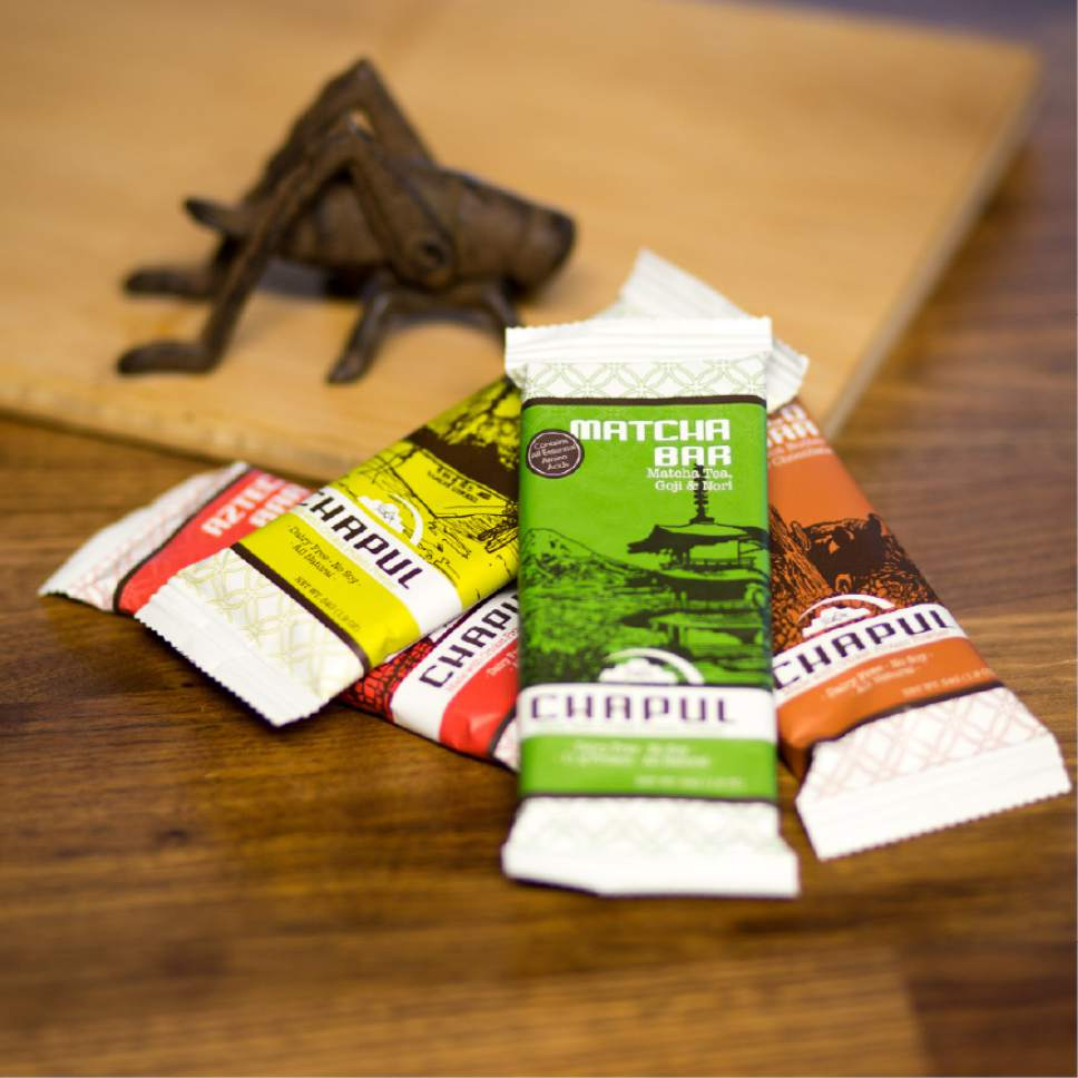 "After an infusion of money from ""Shark Tank"" Utah-based Chapul has reformulated its four flavors of gourmet energy bars. They are made with cricket flour but now have less sugar and more protein. Courtesy Chapul"