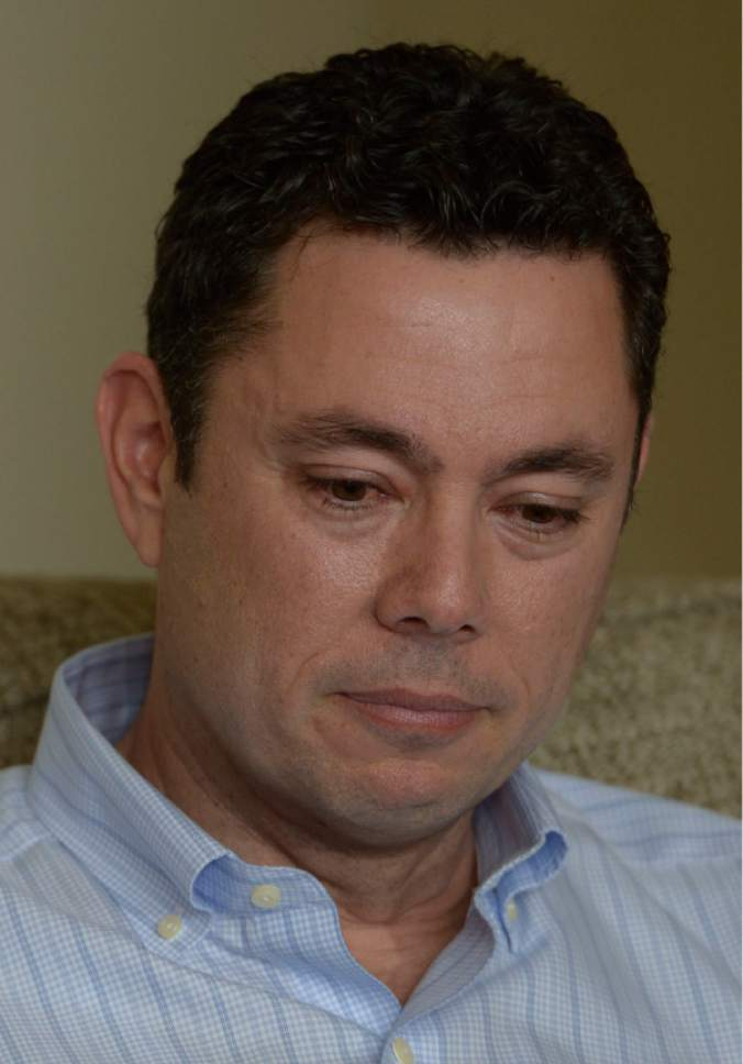 "Leah Hogsten  |  The Salt Lake Tribune Rep. Jason Chaffetz tears up while counting the events in his family's life that he's missed. Chaffetz told members of the media at his home in Alpine during an impromptu press conference that he was leaving Congress to spend more time with his family. Chaffetz announced Thursday May 18, 2017 that he will step down from office June 30. In a letter to constituents, the Utah Republican and chairman of the House Oversight and Government Reform Committee, said he did not want a ""lifetime career"" in Congress, although it is rumored that he is in talks about a job with Fox News and hasn't ruled out a race for Utah governor in 2020."