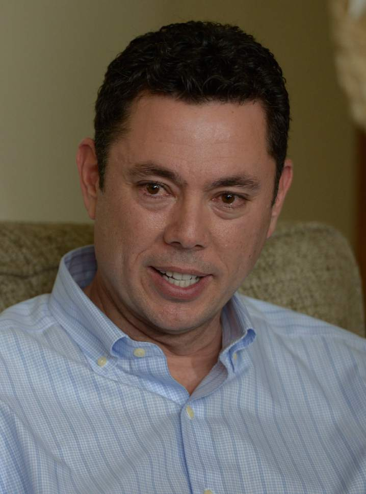 """Leah Hogsten     The Salt Lake Tribune Rep. Jason Chaffetz tears up while counting the events in his family's life that he's missed. Chaffetz told members of the media at his home in Alpine during an impromptu press conference that he was leaving Congress to spend more time with his family. Chaffetz announced Thursday May 18, 2017 that he will step down from office June 30. In a letter to constituents, the Utah Republican and chairman of the House Oversight and Government Reform Committee, said he did not want a """"lifetime career"""" in Congress, although it is rumored that he is in talks about a job with Fox News and hasn't ruled out a race for Utah governor in 2020."""