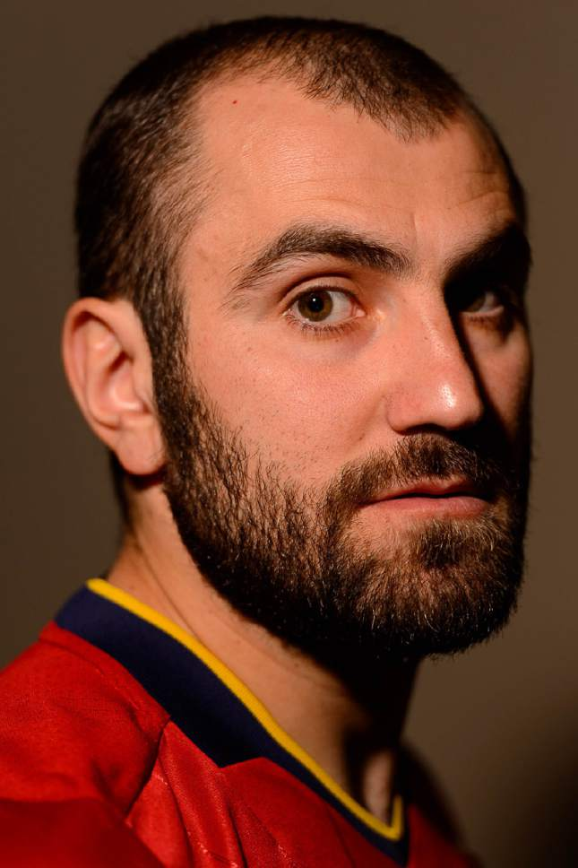 Trent Nelson  |  The Salt Lake Tribune Real Salt Lake's Yura Movsisyan at the club's media day in Sandy, Saturday January 23, 2016.