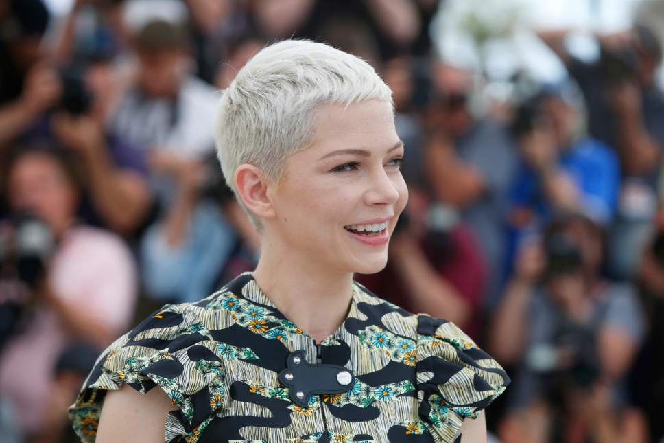 Actress Michelle Williams poses for photographers during the photo call for the film Wonderstruck at the 70th international film festival, Cannes, southern France, Thursday, May 18, 2017. (AP Photo/Alastair Grant)