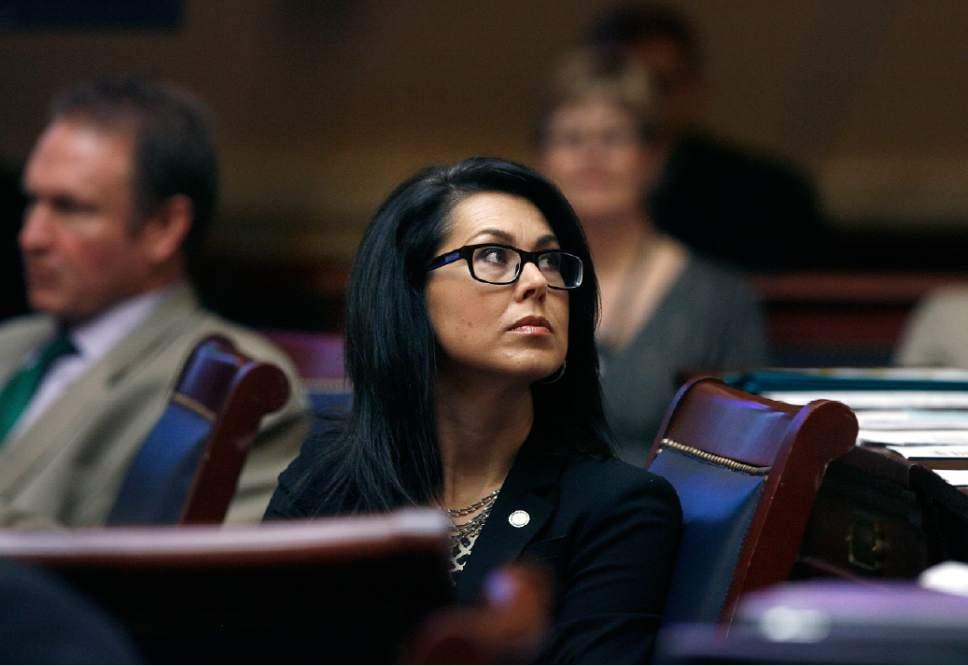 Scott Sommerdorf   |  Tribune file photo Sen. Deidre Henderson, R-Spanish Fork, is pushing a bill that allows the state board of education to forfeit federal funds if a particular program conflicts with state policy, then seek reimbursement from the Legislature.