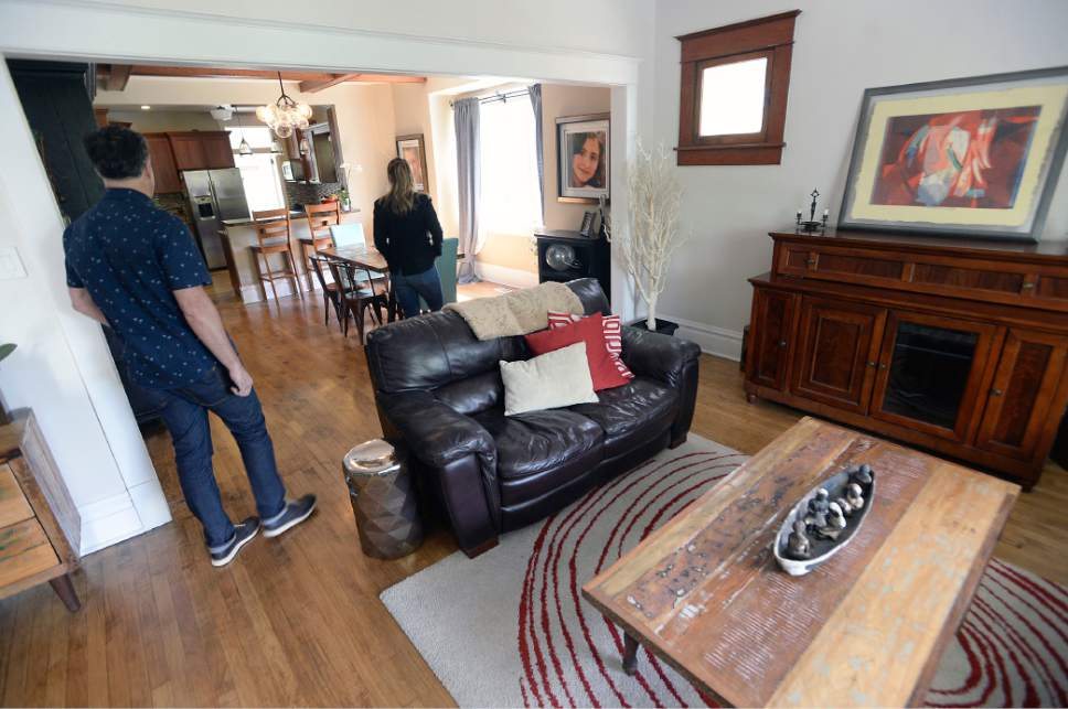 Al Hartmann  |  The Salt Lake Tribune A few touch-ups were made to the interior of a 1912, Craftsman-style house in Salt Lake's 9th and 9th neighborhood. It's selling for $450.000.  The Wasatch Front real-estate market is booming if you're a seller.  With a low number of listings on the marke,t homes in desirable neighborhoods are moving quickly.