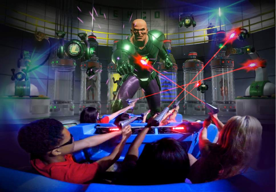 Six Flags Magic Mountain in Southern California recently opened Revolution Galatic Attack virtual reality coaster. Coming later this year will be Justice League: Battle for Metropolis. Courtesy of Six Flags
