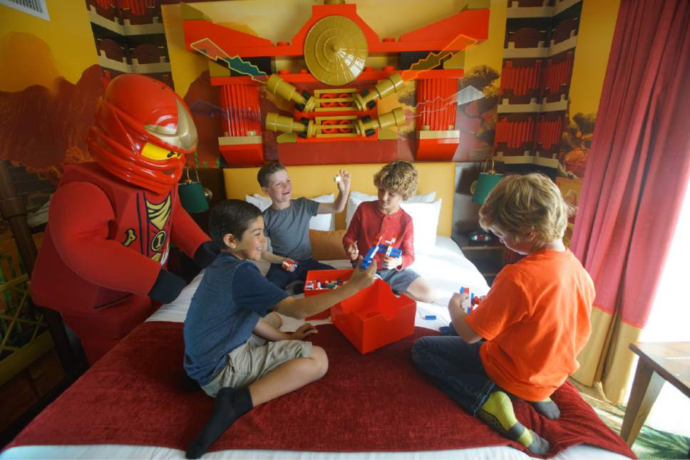 Courtesy photo  Legoland in San Diego has added Ninago universe rooms to its hotel