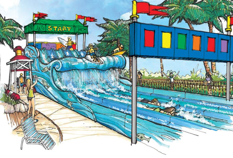 Courtesy photo  Legoland in San Diego has added Surfer's  Cove, a competitive water raceway designed for children to compete against each other.